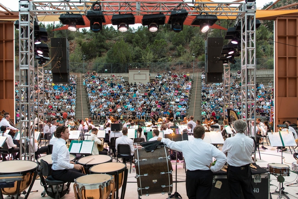 (Courtesy Marc Estabrook/Utah Symphony) The Utah Symphony kicks off its Great American Road Trip on Tuesday, Aug. 29, at O.C. Tanner Amphitheater in Springdale. The tour will cover 1,200 miles over five days in Utah, ending Saturday at Dinosaur National Monument.