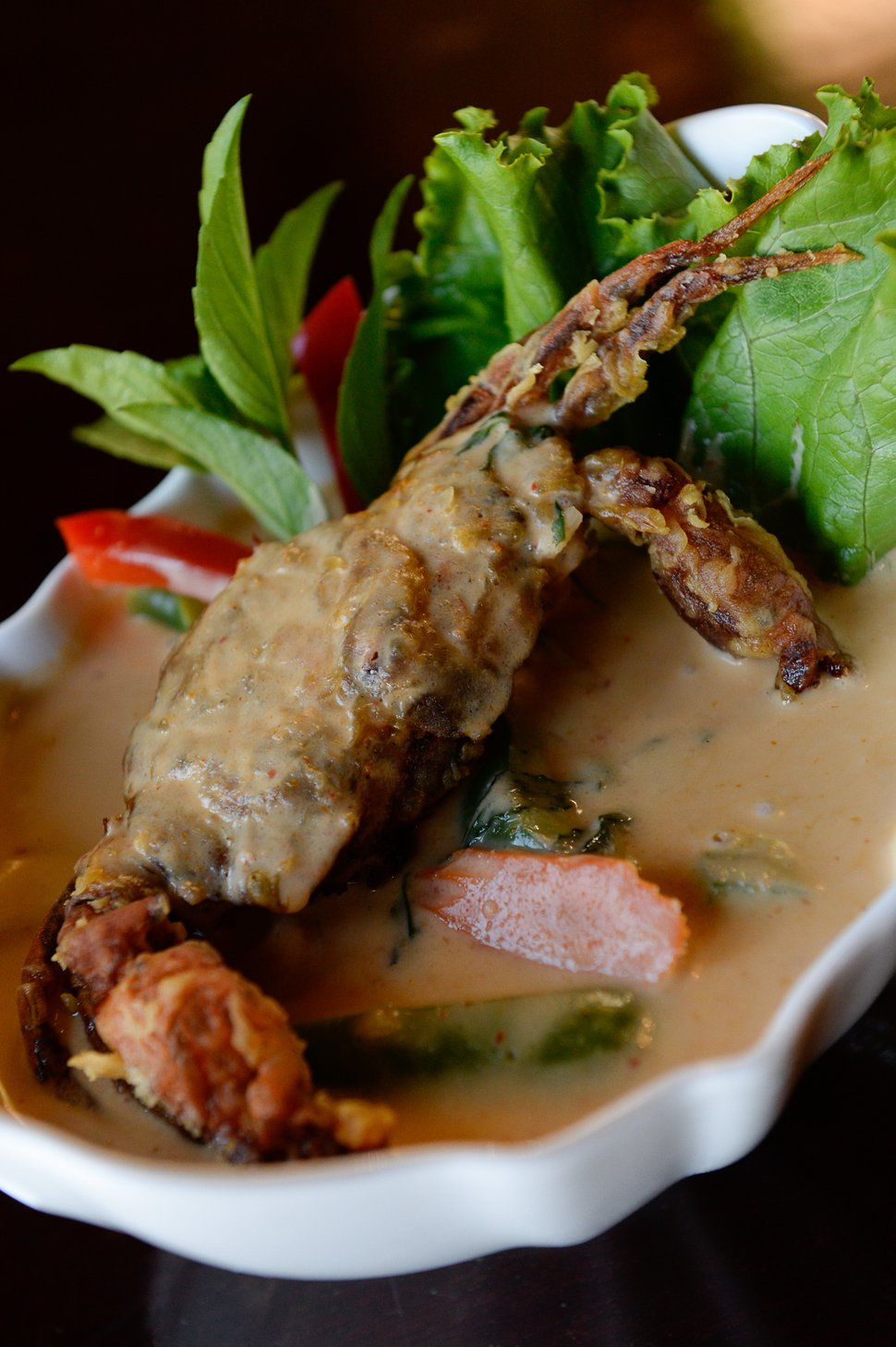 (Francisco Kjolseth | The Salt Lake Tribune) Fav Bistro, a new restaurant in Holladay, prepares an order of red curry with soft crab.