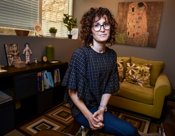(Leah Hogsten   The Salt Lake Tribune) Kristin Hodson is one of the leaders of the new sex-positivity movement happening in Utah. Hodson and her group of therapists with The Healing Group focus on sex and sex positivity, Thursday, March 15, 2018.