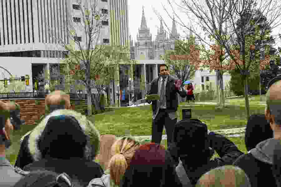 America's leading atheist, who is accused of sexual misconduct and once led a march around Mormon Temple Square, speaks out