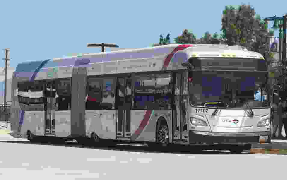 Riding the new Provo-Orem bus rapid transit line will be free for three years, thanks to a federal grant