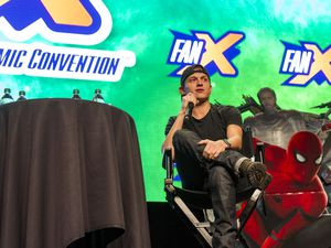 (Alex Gallivan | Special to the Tribune ) Tom Holland, who has played Peter Parker/Spider-Man in five Marvel Cinematic Universe movies, speaks at the FanX Salt Lake Comic Convention at the Salt Palace Convention Center in Salt Lake City on Saturday, Sept. 7, 2019.