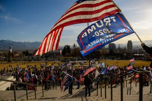 (Trent Nelson  |  The Salt Lake Tribune) Trump supporters gathered at the State Capitol in Salt Lake City on Wednesday, Jan. 6, 2021.
