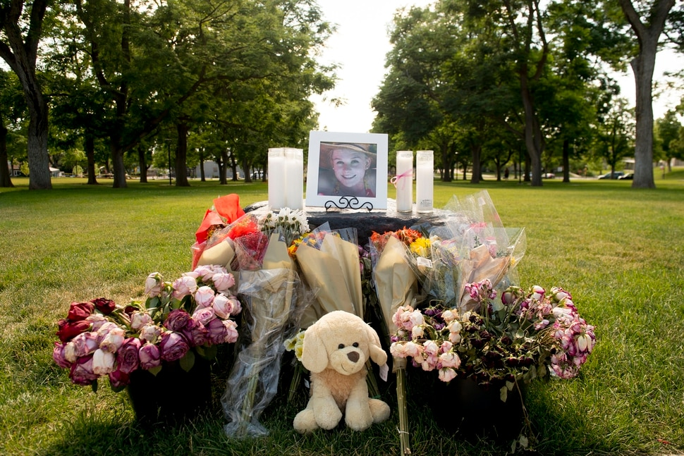 (Jeremy Harmon | The Salt Lake Tribune) A memorial for MacKenzie Lueck is seen at the University of Utah on Monday, July 1, 2019.