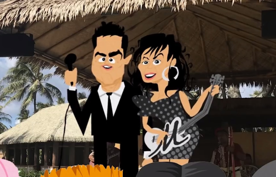 Donny and Marie Osmond are animated in