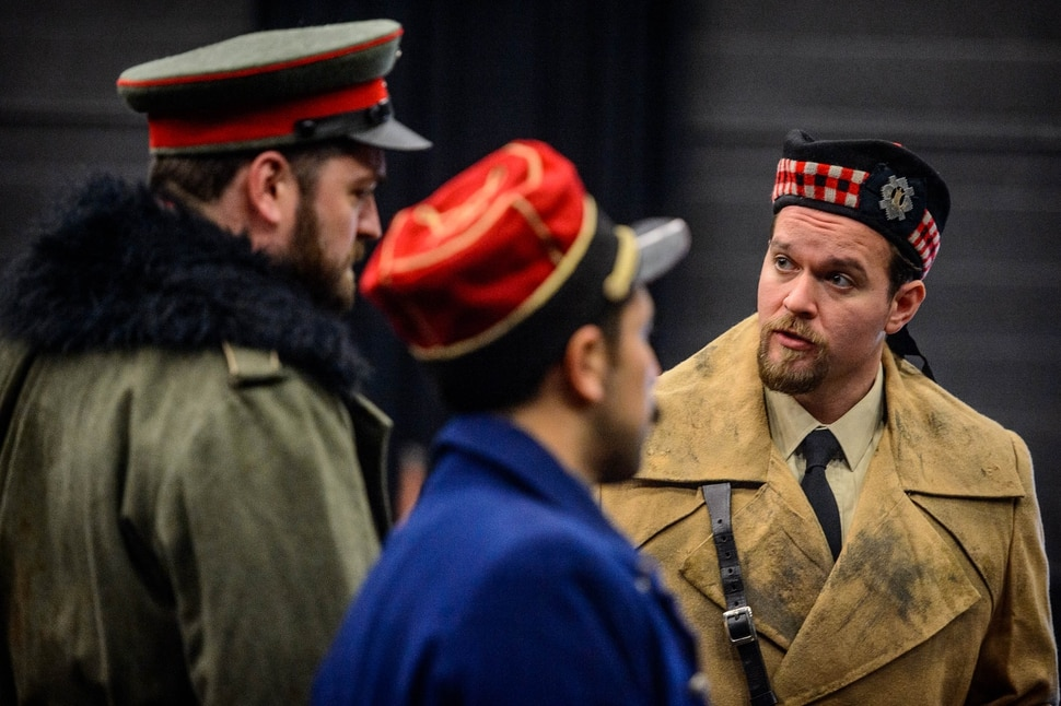 (Trent Nelson | The Salt Lake Tribune) Craig Irvin, Efrain Solis, and Gabriel Preisser are performers in Utah Opera's production of Silent Night and were photographed in Salt Lake City on Wednesday, Jan. 8, 2020.