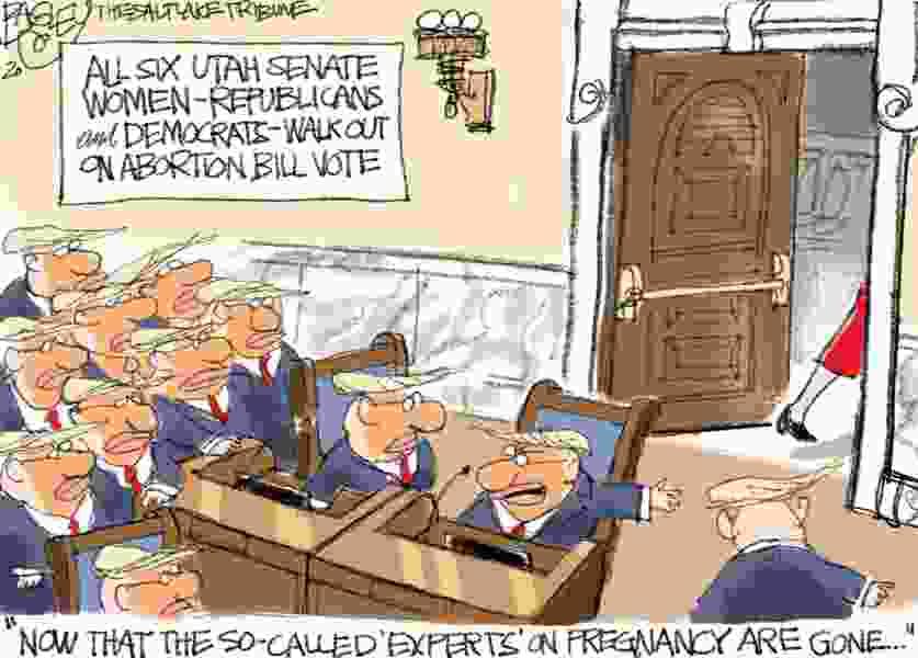 Bagley Cartoon: Women Walk Out