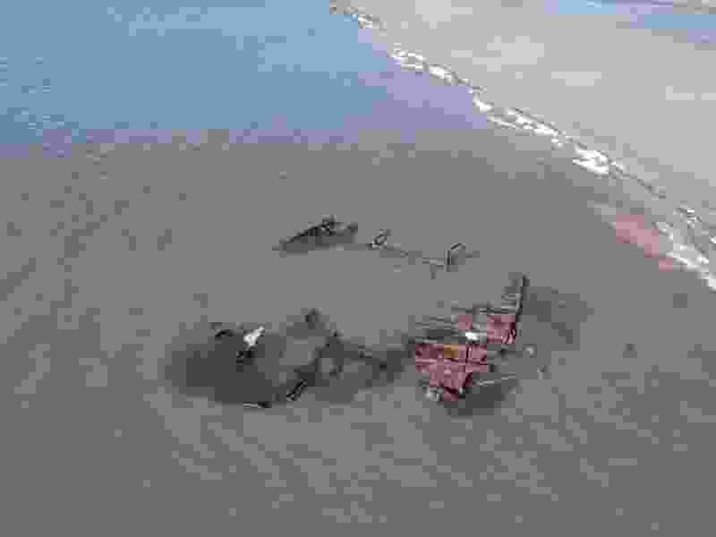 Storm exposes shipwreck in the Great Salt Lake