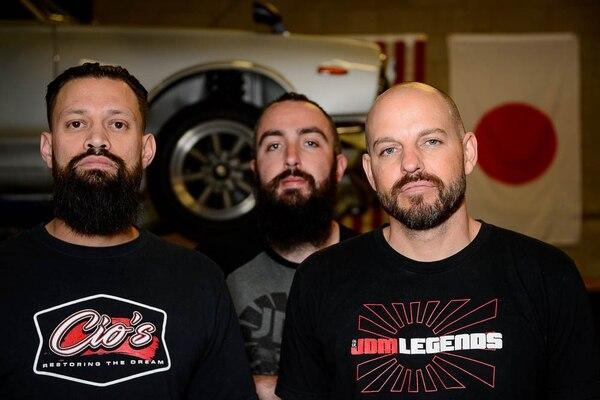 (Trent Nelson | The Salt Lake Tribune) Mauricio Rosales, Josh Martin and Eric Bizek at the Salt Lake City-based shop JDM Legends, Thursday, May 3, 2018.