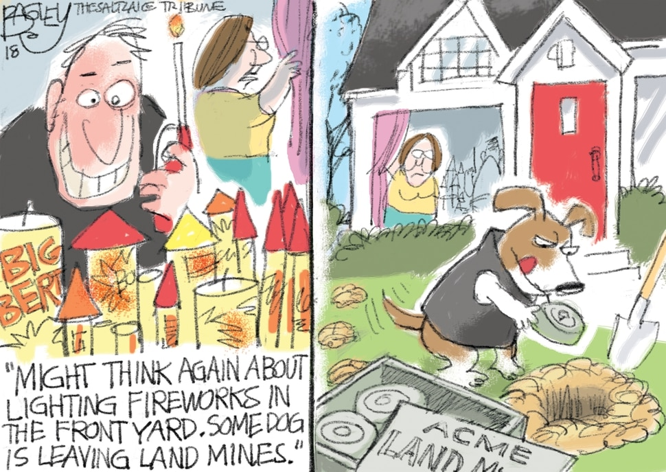 This Pat Bagley cartoon appears in The Salt Lake Tribune on Tuesday, July 3, 2018.
