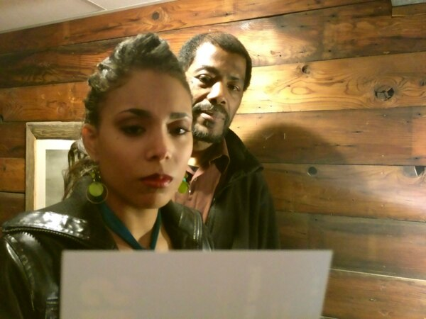 | Courtesy Richard Scharine directs William Ferrer (Kenyatta Shakur), Malinda Money (as Shakur's daughter, Nina), and Cal Beck (as Nina's boyfriend, Damon) in People Productions'