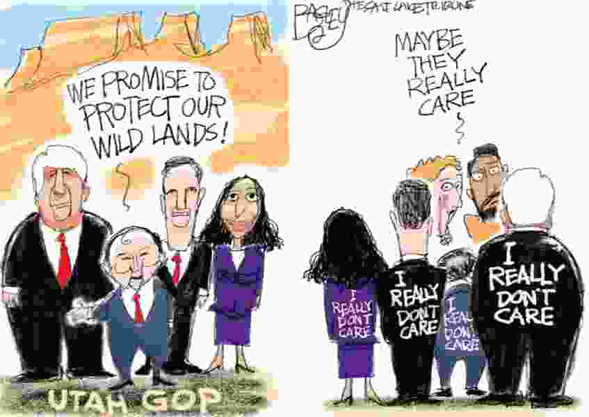 Bagley Cartoon: Yours, Ours and Mines