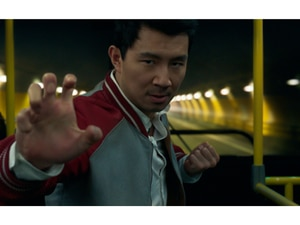 """(Marvel Studios via AP) This image released by Marvel Studios shows Simu Liu in a scene from """"Shang-Chi and the Legend of the Ten Rings."""""""
