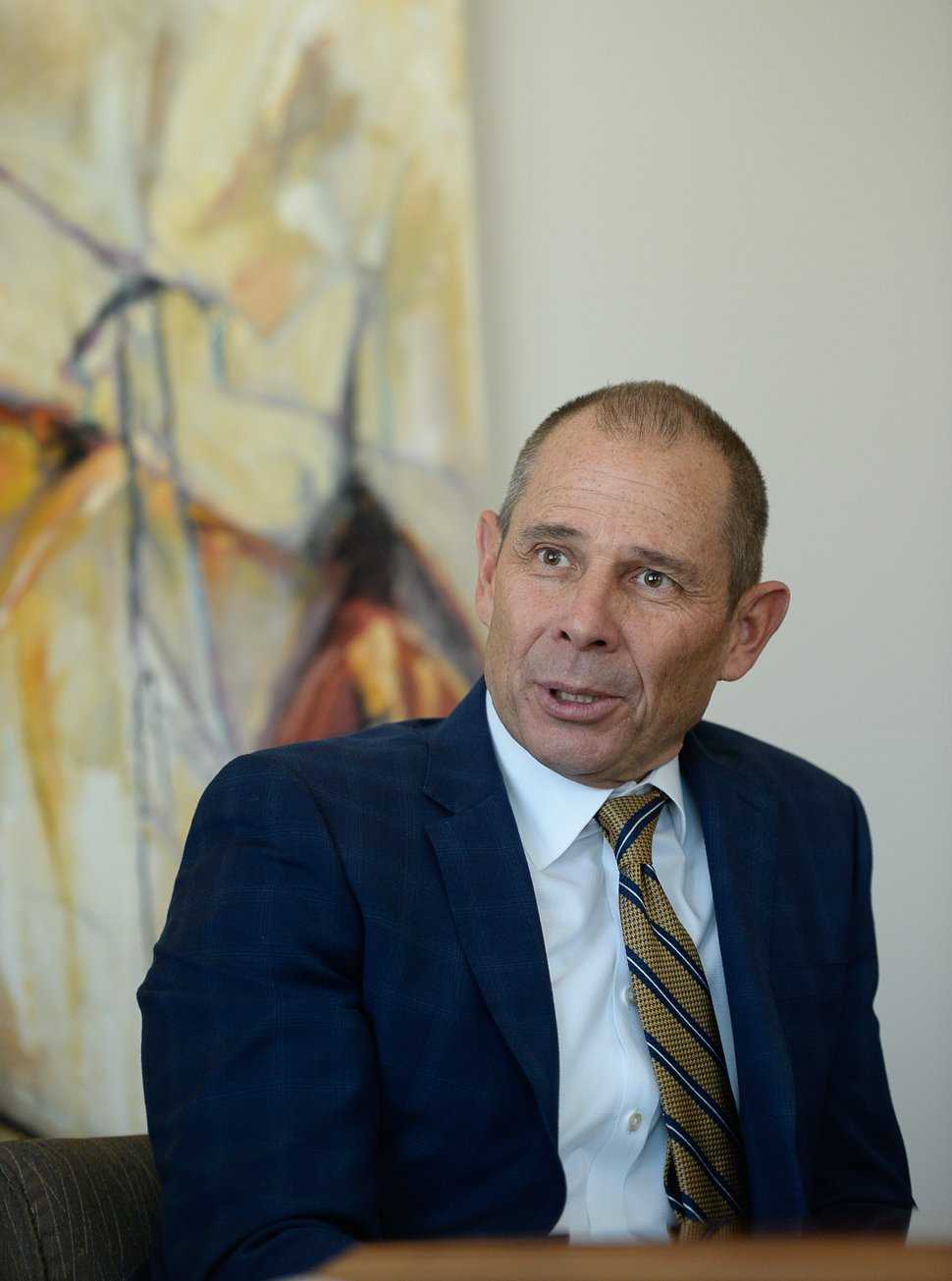 (Francisco Kjolseth | The Salt Lake Tribune) John Curtis speaks to the Salt Lake Tribune Editorial Board on Tuesday, Oct. 10, 2017.