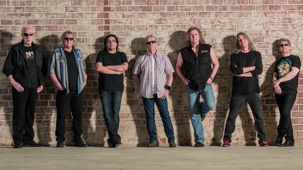 Courtesy photo Kansas, with singer Ronnie Platt third from right