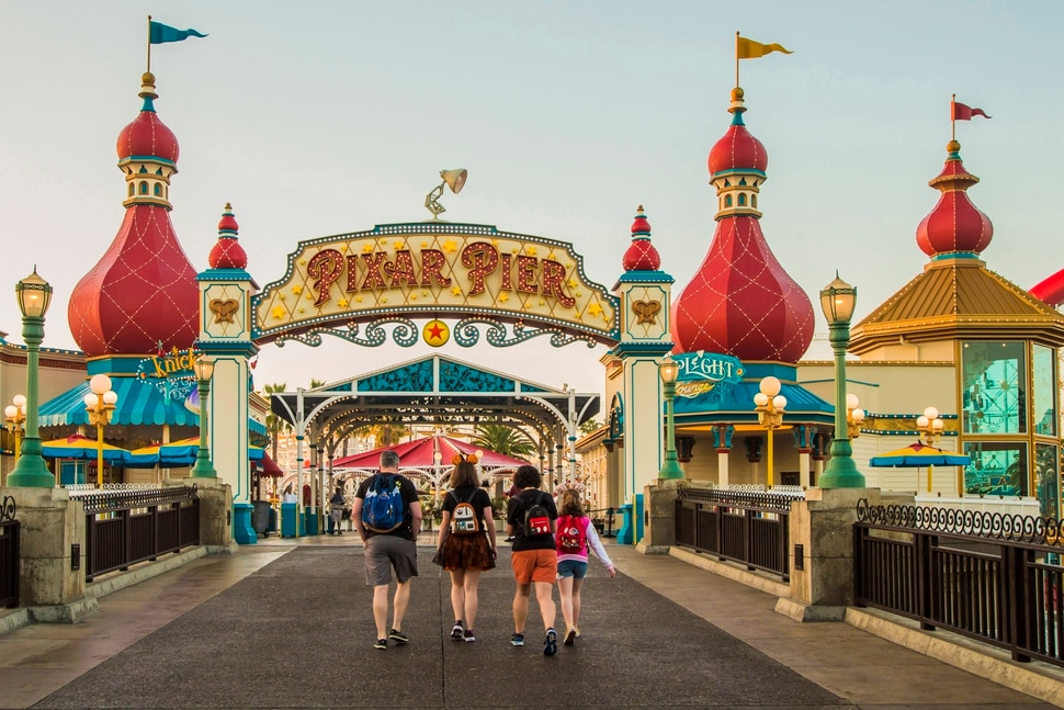 (Photo courtesy Joshua Sudock/Disneyland Resort) The Pixar Lamp stands atop the Pixar Pier marquee.
