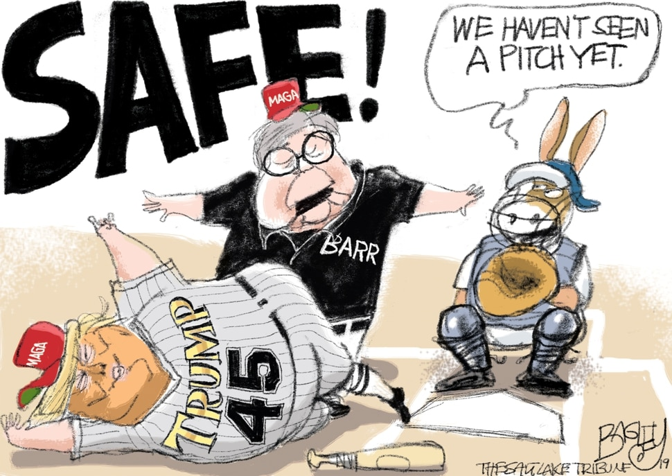 (Pat Bagley | The Salt Lake Tribune) This Pat Bagley cartoon appears in The Salt Lake Tribune on Friday, April 12, 2019.