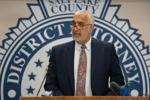 (Francisco Kjolseth | The Salt Lake Tribune) Salt Lake County District Attorney Sim Gill speaks during a press announcement on Thursday, July 22, 2021. On Friday, Gill announced that a sheriff's deputy was legally justified when he shot and killed a man in April who had just shot him and another officer.