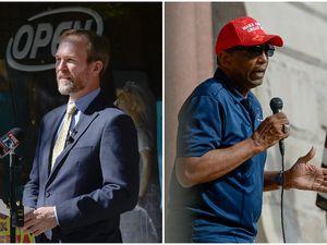 (Francisco Kjolseth   Tribune file photos) Democrat Rep. Ben McAdams, left, and Republican Burgess Owens, right, candidates for Utah's 4th Congressional District.