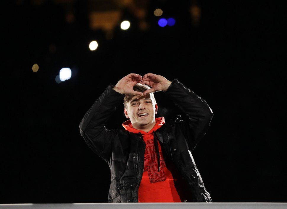 (Associated Press file photo) Dutch DJ Martin Garrix, seen here at the closing ceremony of the 2018 Winter Olympics in PyeongChang, South Korea, will be one of the featured acts at the LoveLoud Festival, set for June 29 at Usana Amphitheatre in West Valley City, Utah.