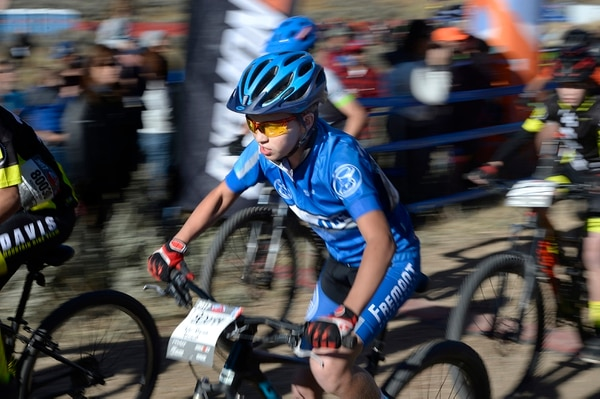 (Scott Sommerdorf   The Salt Lake Tribune) A racer leaves the starting line at the start of the Utah High School Cycling League