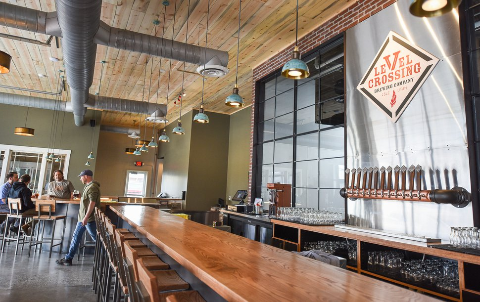 (Francisco Kjolseth | The Salt Lake Tribune) Level Crossing Brewing Co., scheduled to open on March 30, found its new home in the 10,000-square-foot space at the base of the iconic South Salt Lake water tower at 2496 S. West Temple.