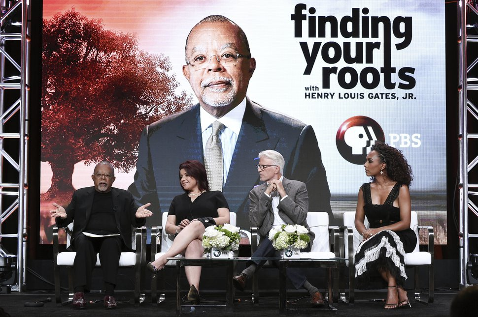 (Photo by Richard Shotwell/Invision/AP) Henry Louis Gates Jr., from left, Ana Navarro, Ted Danson and Janet Mock participate in the