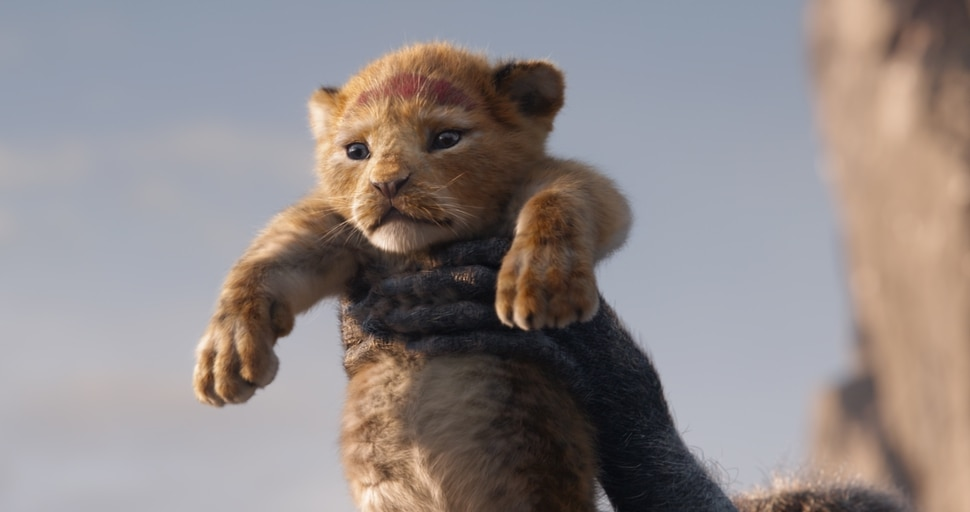 (Image courtesy Walt Disney Pictures) The young cub Simba is presented to the animals of the savanna in Disney's computer-animated version of The Lion King.