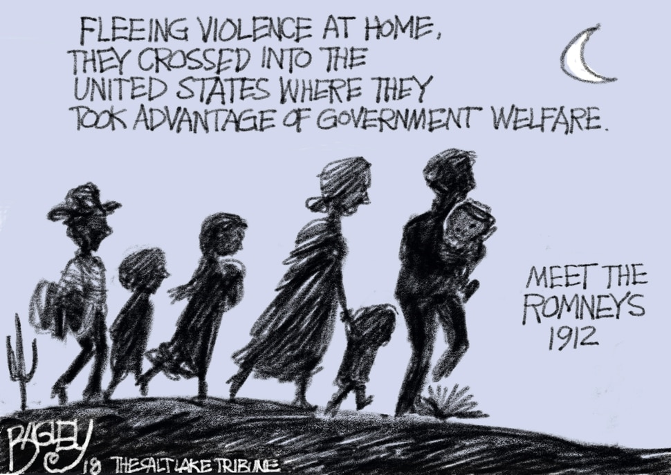 This Pat Bagley cartoon appears in The Salt Lake Tribune on Wednesday, March 28, 2018.