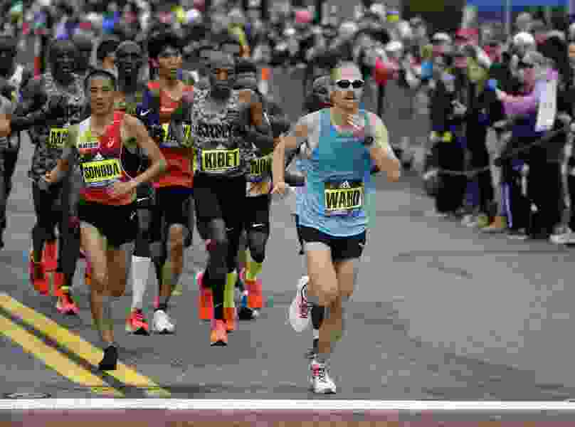 BYU stats professor Jared Ward finishes 8th at the Boston Marathon, posts his personal best time